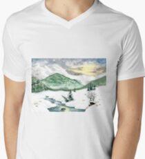 A winter landscape V-Neck T-Shirt