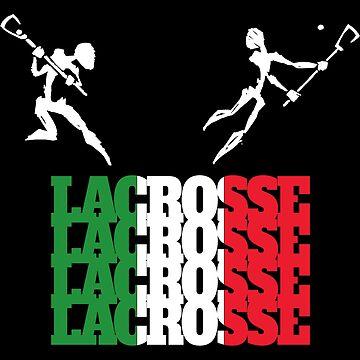 Lacrosse Italy Italian Lacrosse by SportsT-Shirts