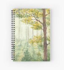 Between the trees. Spiral Notebook