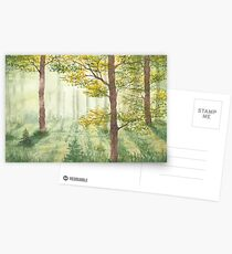 Between the trees. Postcards