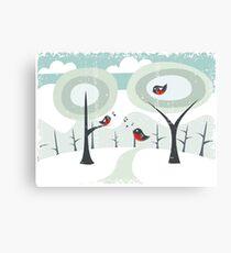 winter card Canvas Print