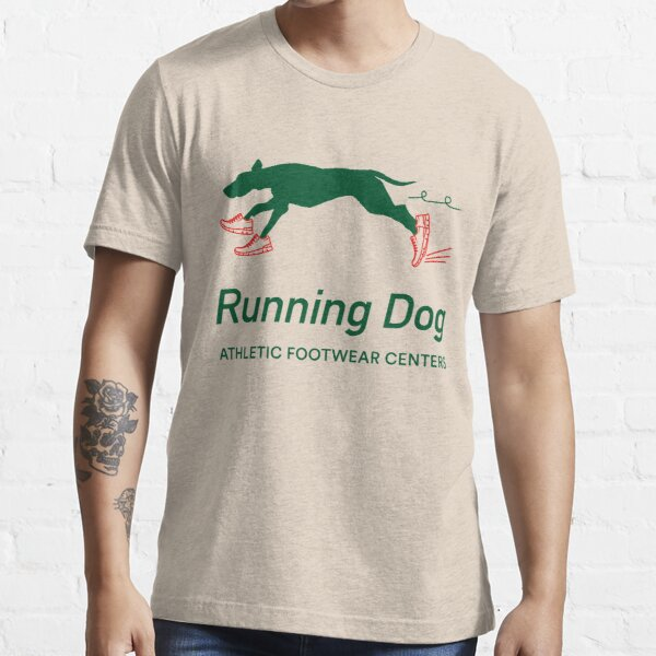 Running Dog Athletic Footwear Centres © 1983 T-shirt essentiel