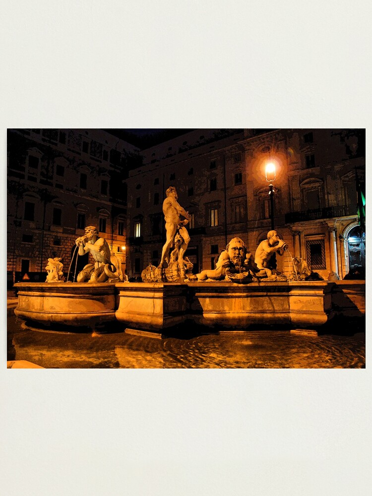 Alternate view of La Fontana del Moro Photographic Print