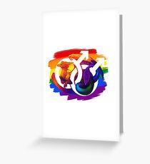 Gay Pride Dragon Greeting Card