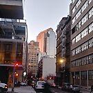 NewYorkCity #Manhattan #Brooklyn, #NewYork #City #architecture #street #building #tree #car #pedestrian #skyscraper #evening #sunlights by znamenski