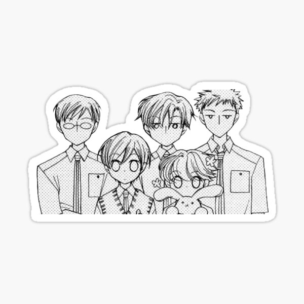 Ouran Host Club Group Sticker