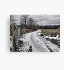 Country Lane in Ohio Canvas Print