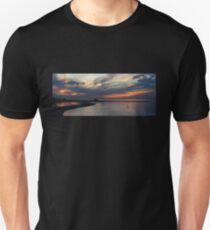 Sunset and the Kayak (Panorama) T-Shirt