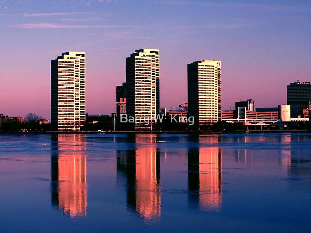 Detroit City Skyline 1 by Barry W  King