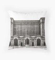 Michigan Central Depot Throw Pillow