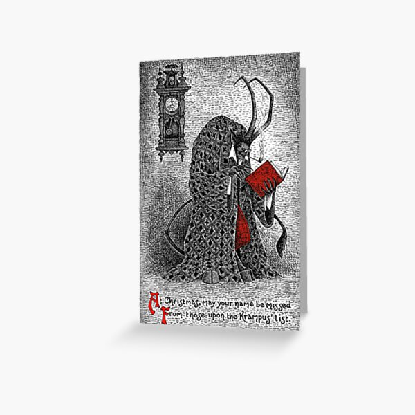 The Krampus' List Greeting Card