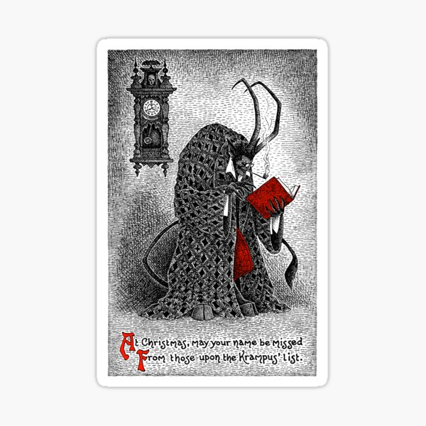 The Krampus' List Sticker