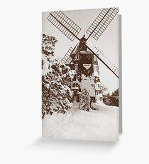 Winter Windmill Greeting Card