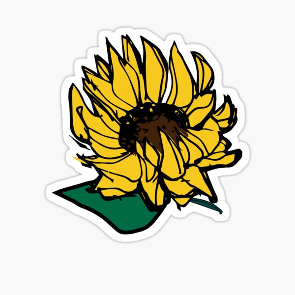 Sunflower Falling Sticker