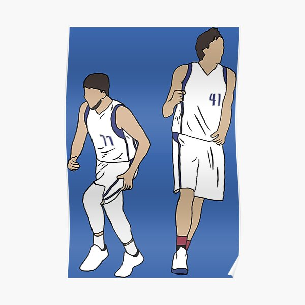 Luka Doncic And Dirk Nowitzki Poster