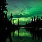 Aurora Off a River by Aaron Lojewski