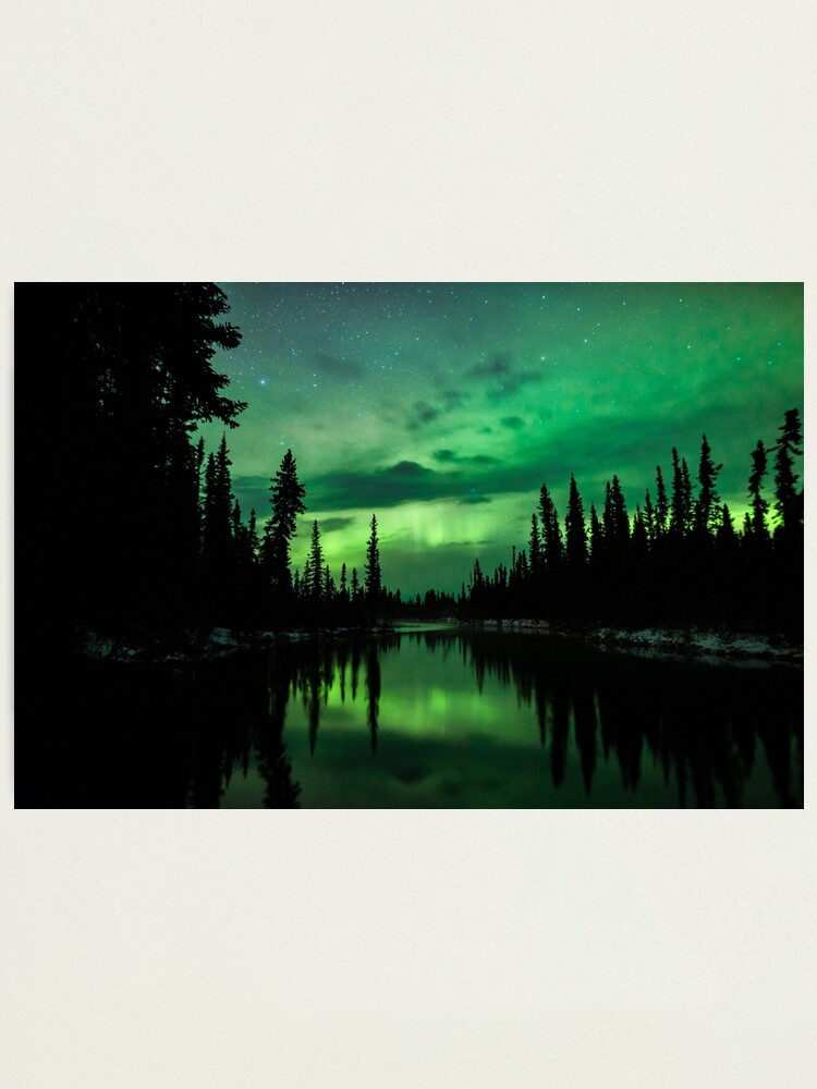 Alternate view of Aurora Off a River Photographic Print