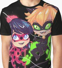 Chibi Time! Ladybug & Cat Noir Graphic T-Shirt