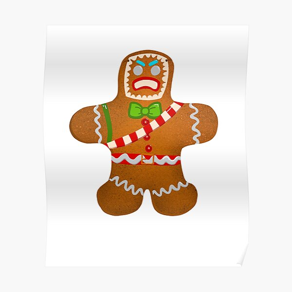 Gingerbread man for gamers Poster