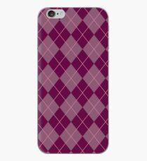 Maroon Argyle Pattern iPhone Case