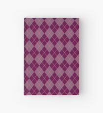 Maroon Argyle Pattern Hardcover Journal