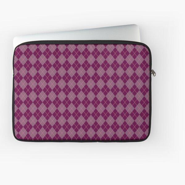 Maroon Argyle Pattern Laptop Sleeve