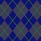 Blue Argyle Pattern by Alex Heberling