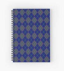Blue Argyle Pattern Spiral Notebook
