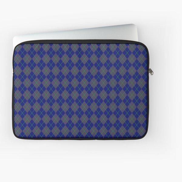 Blue Argyle Pattern Laptop Sleeve