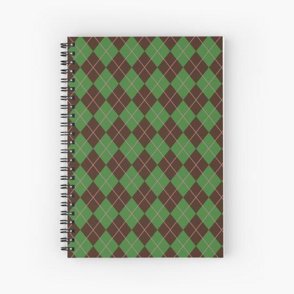 Green Argyle Pattern Spiral Notebook