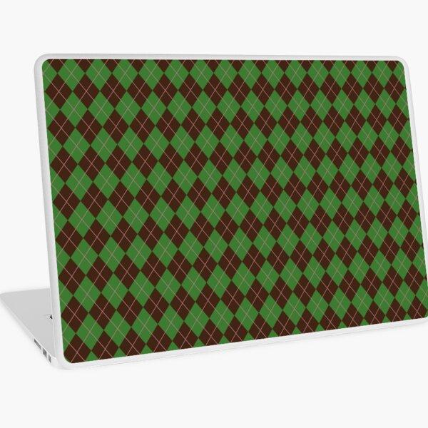Green Argyle Pattern Laptop Skin