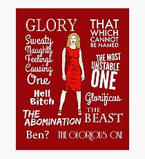 Glorificus - Buffy the Vampire Slayer Photographic Print