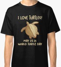 Camiseta clásica '¡Me encantan las tortugas!' Día de la tortuga mundial encantador animal
