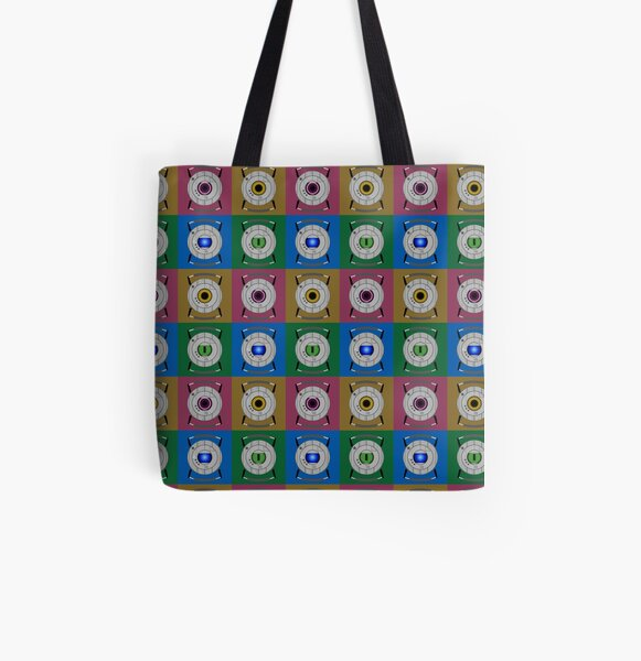 Personality Core Pop All Over Print Tote Bag