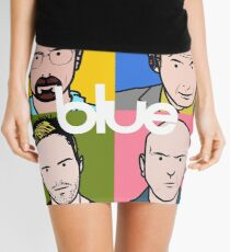 Blue Greatest Hits Mini Skirt