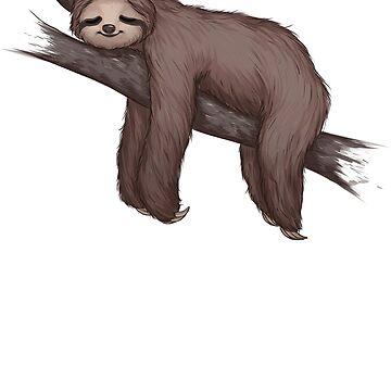 Sleepy Sloth by ribkaDory