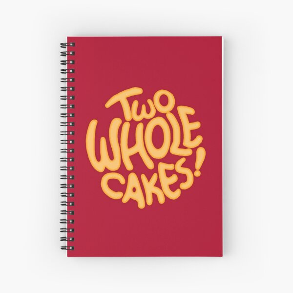 Two Whole Cakes! (Round) Spiral Notebook
