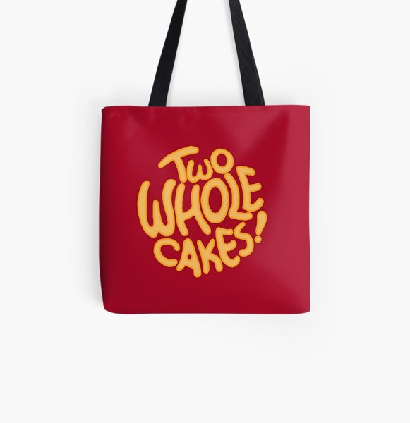 Two Whole Cakes! (Round) All Over Print Tote Bag