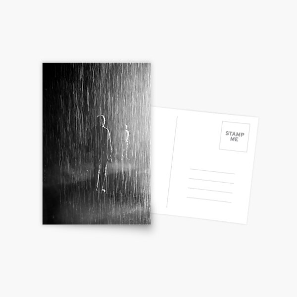 meeting in the rain Postcard