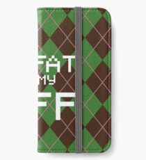My Fat is My BFF Pixel Style (Round) iPhone Wallet/Case/Skin
