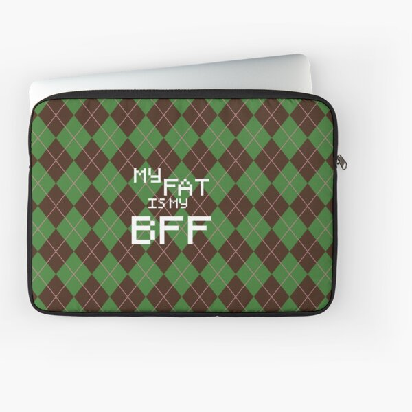 My Fat is My BFF Pixel Style (Round) Laptop Sleeve