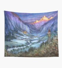 The Hidden Valley in Winter Wall Tapestry