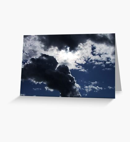 Sun and Clouds Greeting Card