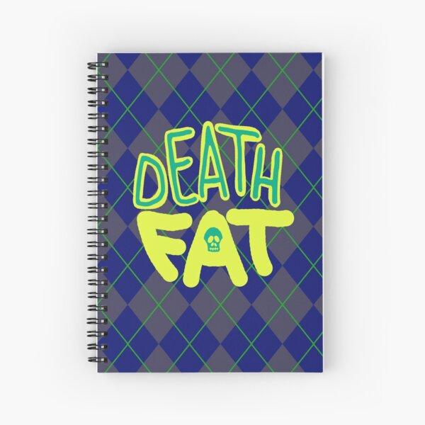 Death Fat Skull Spiral Notebook