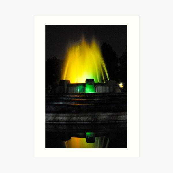 Mulholland Fountain at Night Art Print