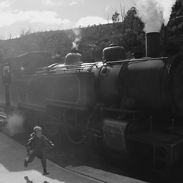 Old Train makes kid happy by JotaEme
