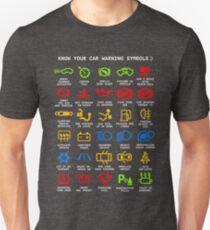 Kennen Sie Ihr Auto Warnleuchten Mechaniker Lustige sarkastische Grafik T-Shirts Unisex T-Shirt