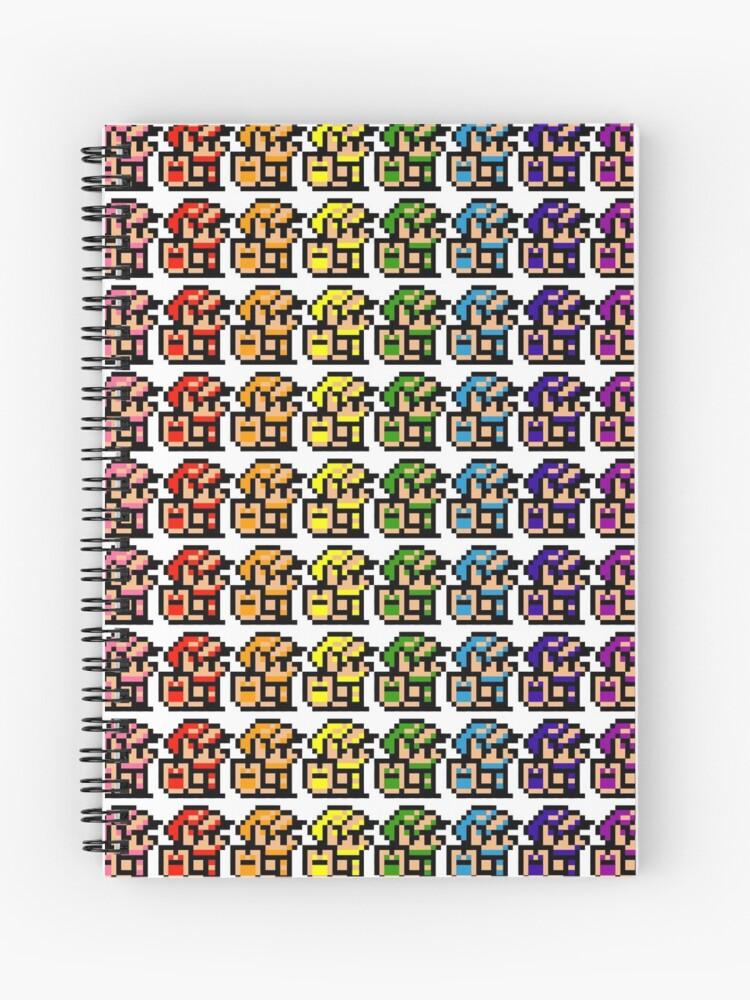 Rainbow Pixel Links The Legend Of Zelda Link S Awakening The Legend Of Zelda Pixel Art T Shirt Spiral Notebook