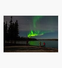 Adventures Watch the Light on a Lakeside  Photographic Print