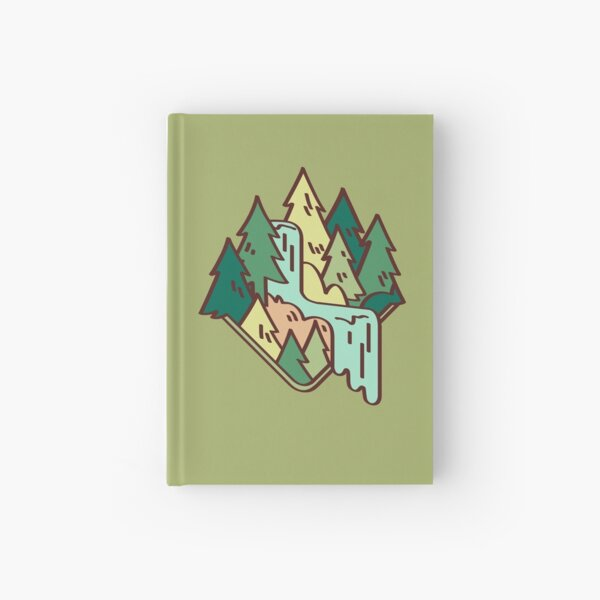foresty waterfall Hardcover Journal